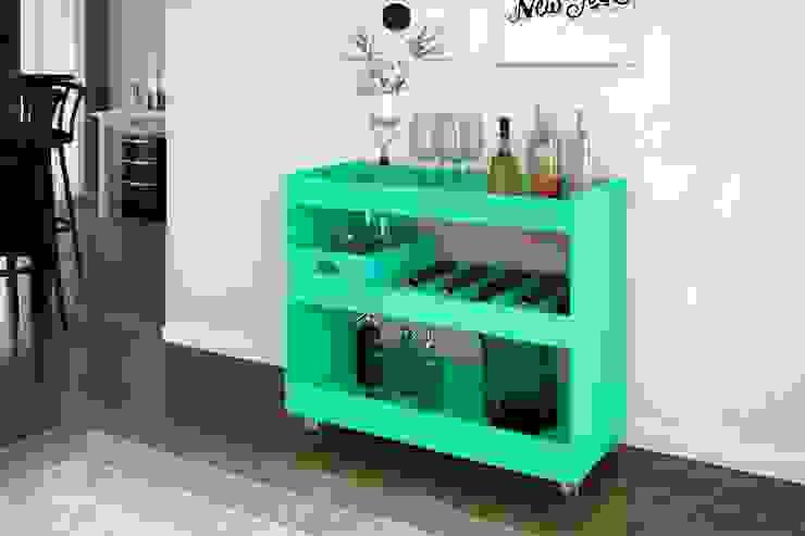 Aparador Bar JB 4030 por Móveis JB Bechara Moderno de madeira e plástico