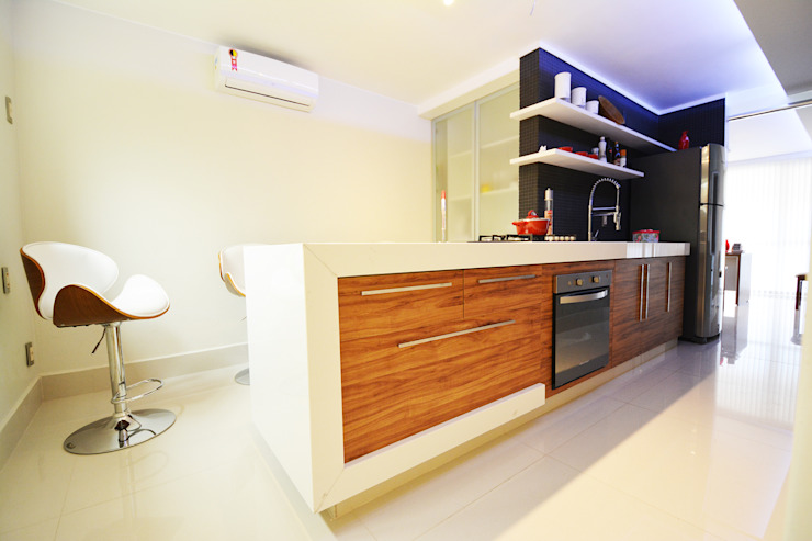 Clinica ZN Cozinhas minimalistas por Arquitetura 1 Minimalista Concreto