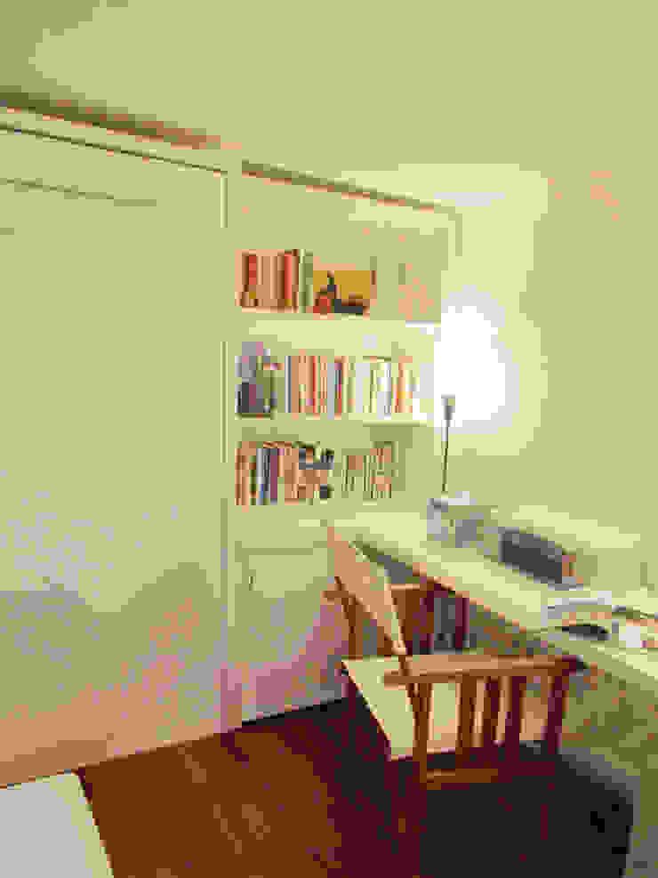 Minimalist study/office by MINBAI Minimalist Wood Wood effect
