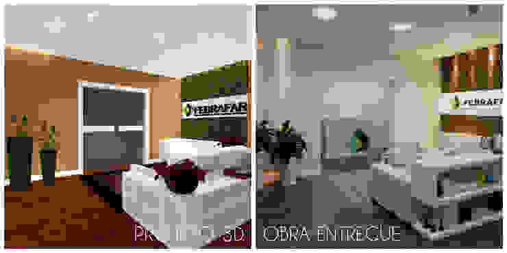 Espaces commerciaux minimalistes par É! Arquitetura e Design Minimaliste Bois Effet bois