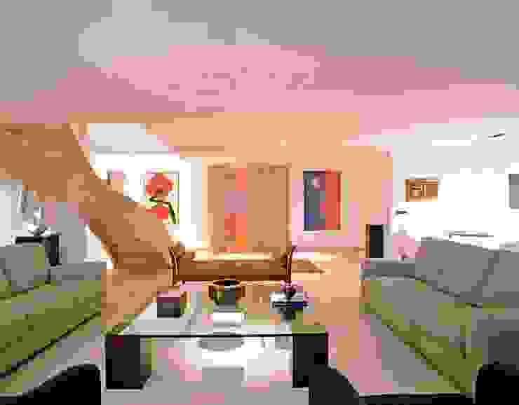 Cobertura Morumbi Salas de estar modernas por Toninho Noronha Arquitetura Moderno