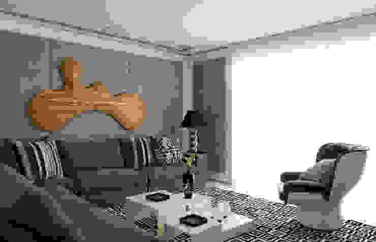 apartamento jardins Salas multimídia modernas por Toninho Noronha Arquitetura Moderno