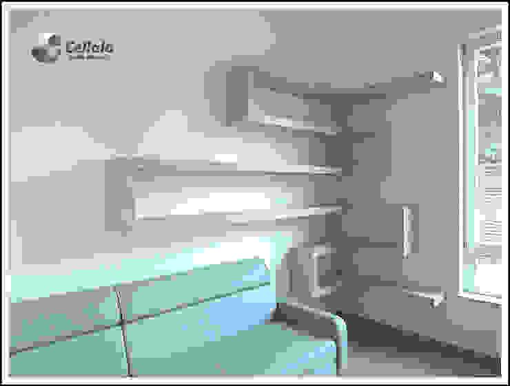 Półki w salonie od Cellaio Minimalistyczny