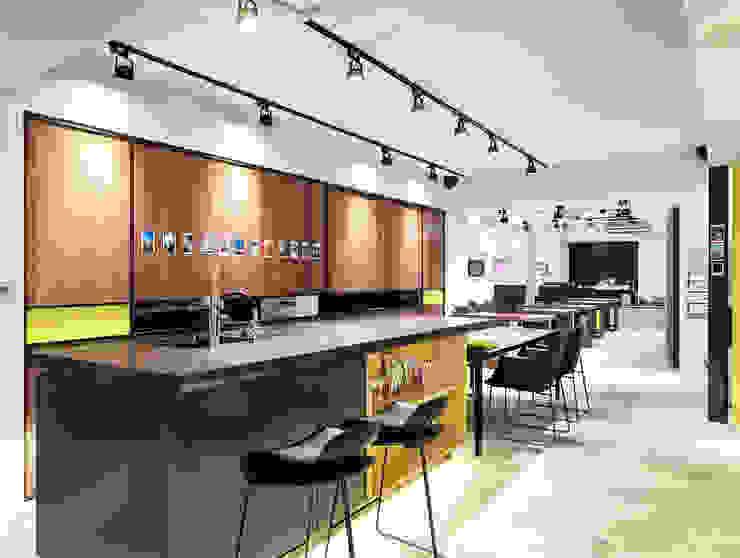 [Office] Limo Design KD Panels 모던스타일 서재 / 사무실 우드 우드 그레인