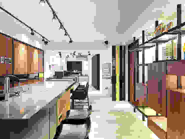 [Office] Limo Design 모던스타일 벽지 & 바닥 by KD Panels 모던 우드 우드 그레인