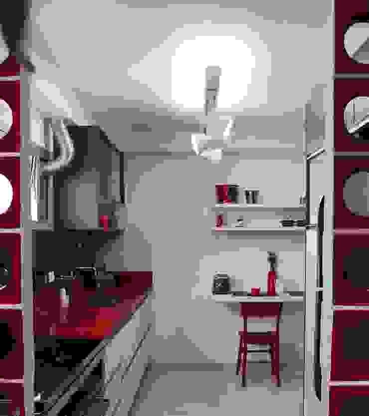 Cozinha Apimentada Corredores, halls e escadas modernos por Juliana Matos Arquitetura e Interiores Moderno