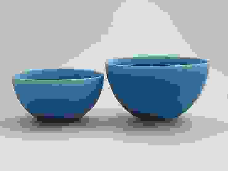 coco#1,2 turquoise: AYAKO SASAKI porcelainが手掛けた折衷的なです。,オリジナル 磁器