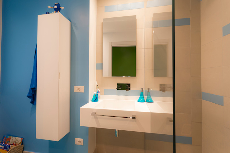 Ristrutturazione OL arCMdesign - Architetto Michela Colaone Bagno moderno