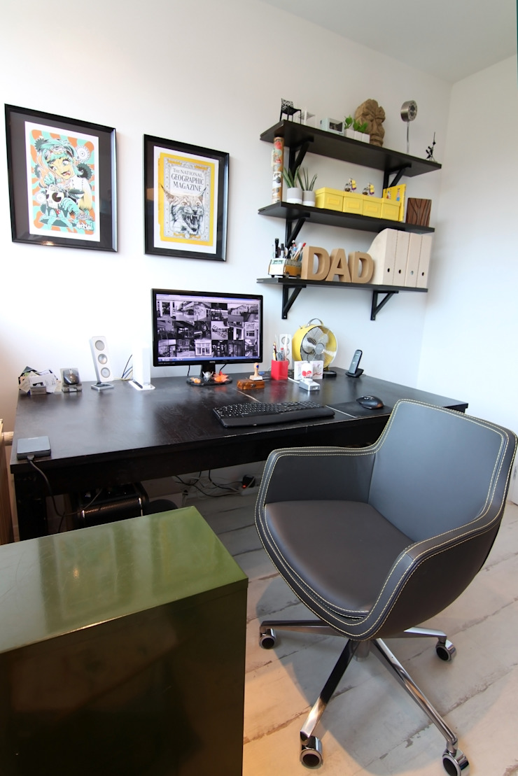 Oficinas y bibliotecas de estilo moderno de Diego Alonso designs Moderno