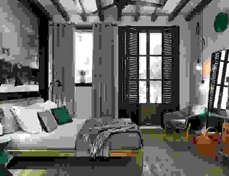 APARTMENT/5: Спальни в . Автор – ONE STUDIO, Средиземноморский