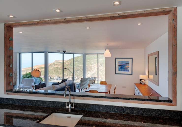 Rockside, Polzeath, Cornwall Dapur Modern Oleh Trewin Design Architects Modern