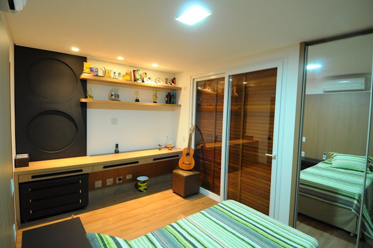 Modern style bedroom by Cabral Arquitetura Ltda. Modern