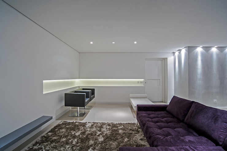 Living room by Studio Boscardin.Corsi Arquitetura,