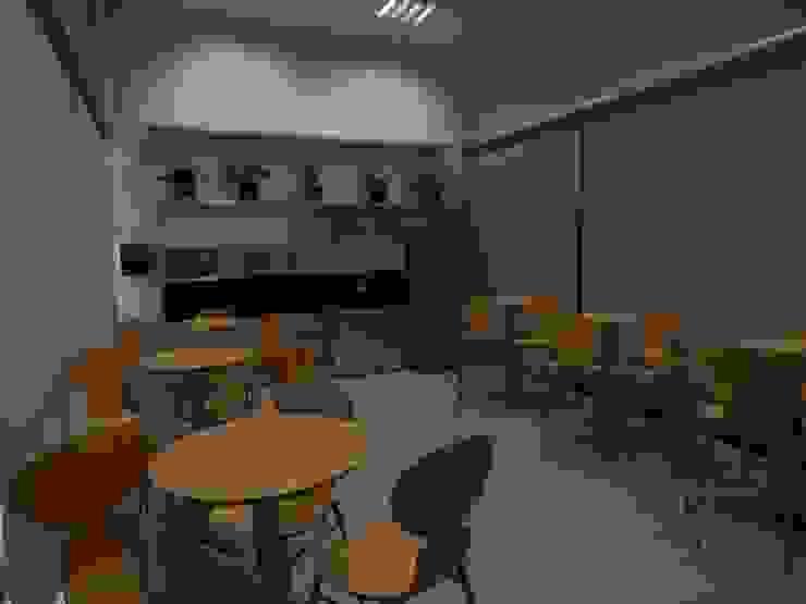 Cafeteira Centro de Treinamento Locais de eventos escandinavos por LUIZE ANDREAZZA BUSSI INTERIORES+ CORPORATIVO Escandinavo