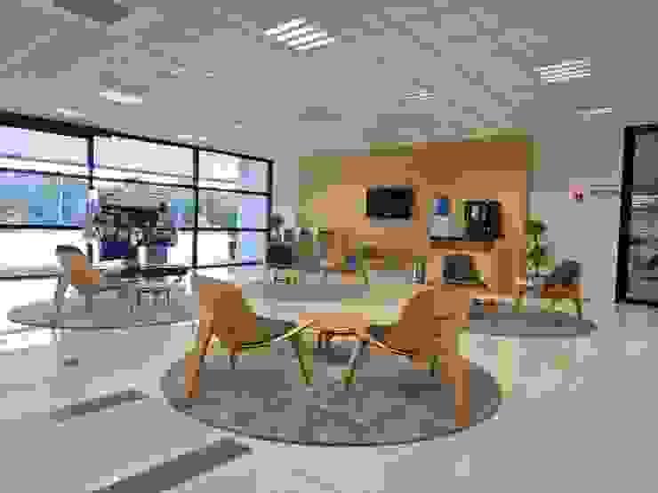 Lounge Centro Treinamento Locais de eventos escandinavos por LUIZE ANDREAZZA BUSSI INTERIORES+ CORPORATIVO Escandinavo