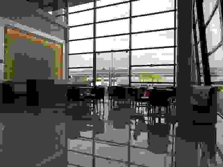 Cafe Customer Center Locais de eventos escandinavos por LUIZE ANDREAZZA BUSSI INTERIORES+ CORPORATIVO Escandinavo