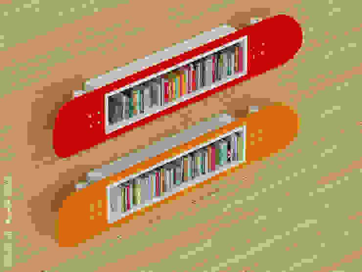 Skateboard boad bookshelves: modern  by Preetham  Interior Designer,Modern
