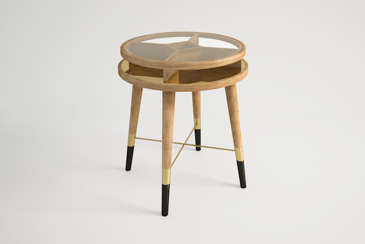 MEIBEL SIDE TABLE por Craft Dream Productions Moderno