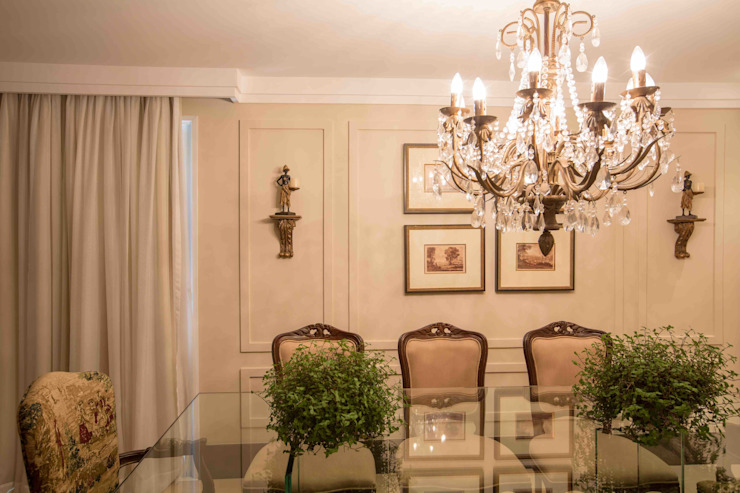 Sala de Jantar Salas de jantar clássicas por Piloni Arquitetura Clássico