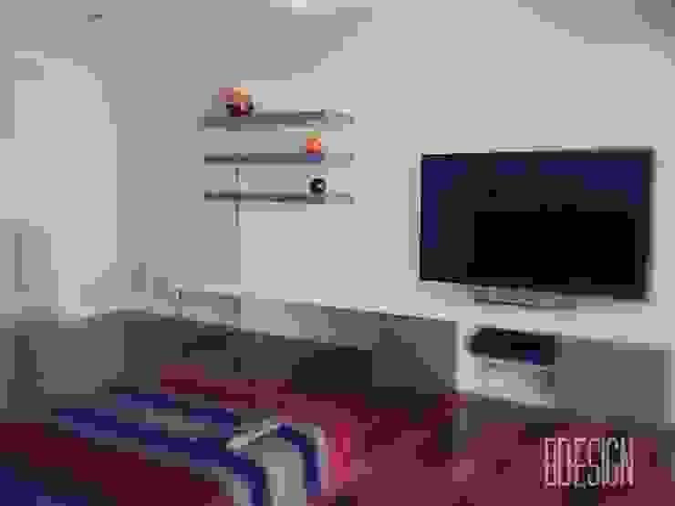 Obra terminada Salones minimalistas de Estudio BDesign Minimalista Compuestos de madera y plástico