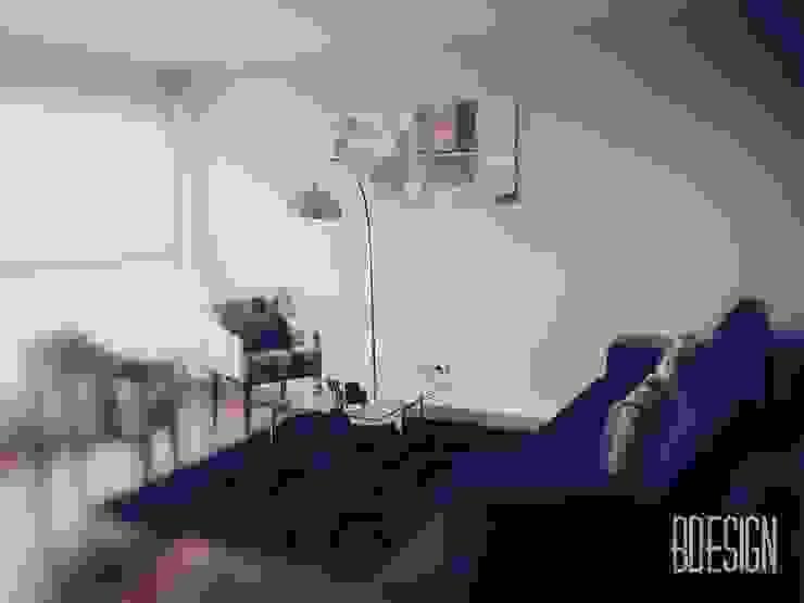 Obra terminada Salones minimalistas de Estudio BDesign Minimalista Concreto reforzado
