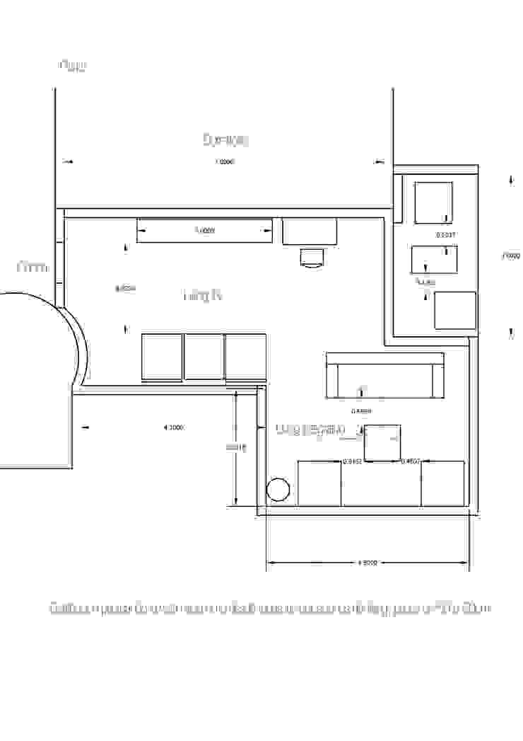 Planta Distribución en el Espacio Salones minimalistas de Estudio BDesign Minimalista Concreto reforzado