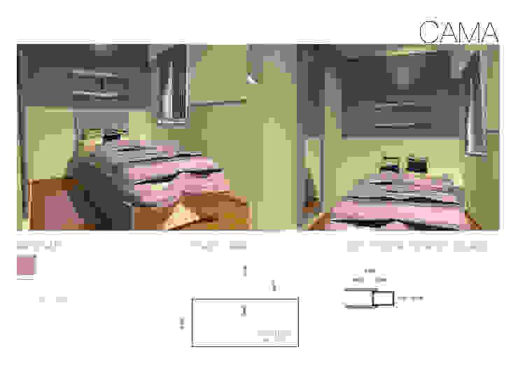 Ante-Proyecto Dormitorios modernos: Ideas, imágenes y decoración de Estudio BDesign Moderno Compuestos de madera y plástico