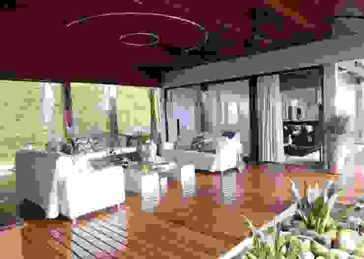 Salas / recibidores de estilo  por DG Arquitetura + Design