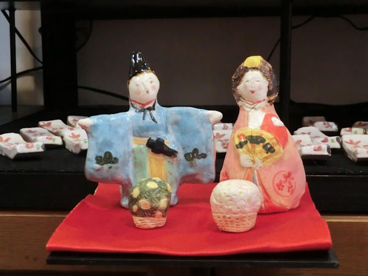 お雛様 陶雛: 堀水窯が手掛けたクラシックです。,クラシック 陶器