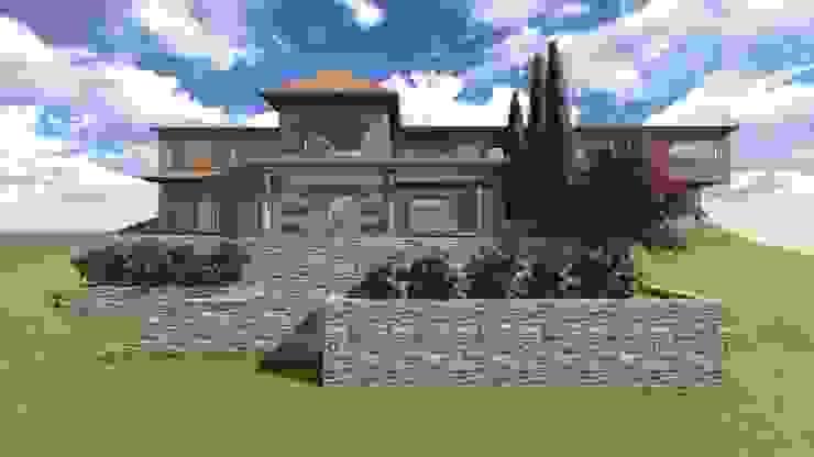CASA HOFFMAN Casas clásicas de raiz estudio Clásico Derivados de madera Transparente