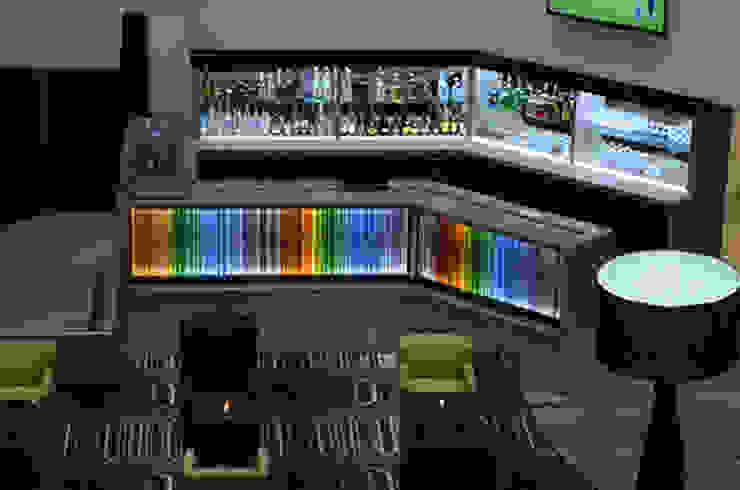 Lobby Bar Hoteles de estilo moderno de Factor Metro Cúbico Moderno