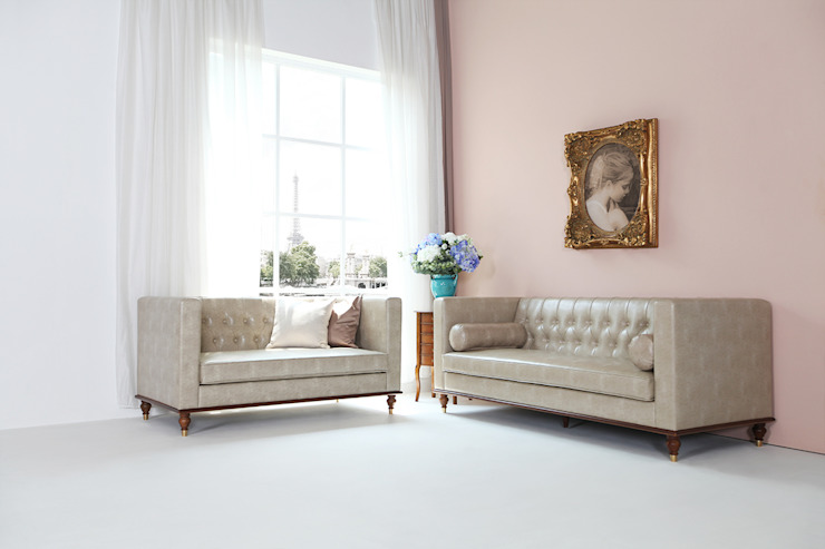 STYLE-K Living roomSofas & armchairs Fake Leather Beige