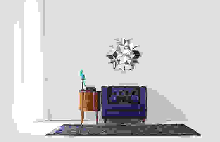 STYLE-K 客廳沙發與扶手椅 假皮 Blue