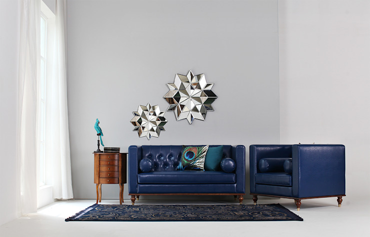 STYLE-K Living roomSofas & armchairs Fake Leather Blue