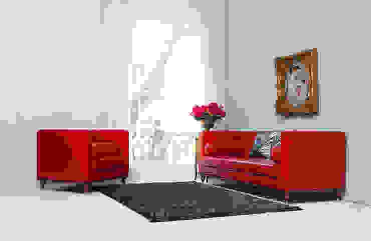 STYLE-K 客廳沙發與扶手椅 假皮 Red