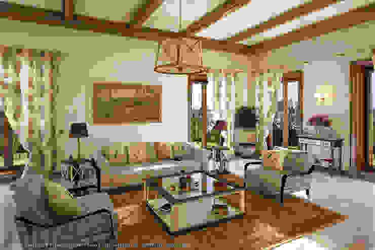 Salas de estar mediterrânicas por Хауспрофи Mediterrânico