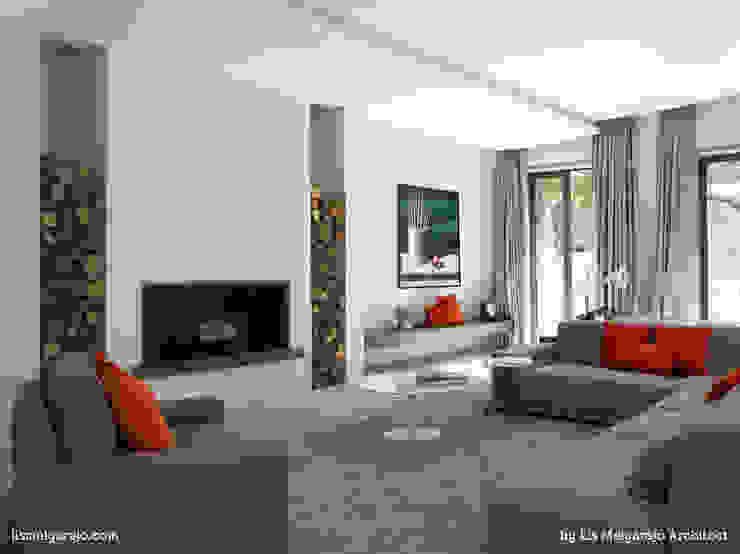 Zagaleta G31: Salones de estilo  de Lis Melgarejo Arquitectura, Moderno