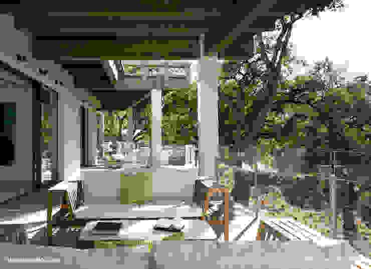 Zagaleta G31 Balcones y terrazas de estilo moderno de Lis Melgarejo Arquitectura Moderno