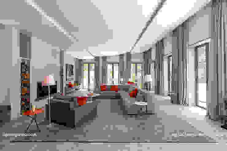 Projekty,  Salon zaprojektowane przez Lis Melgarejo Arquitectura, Nowoczesny