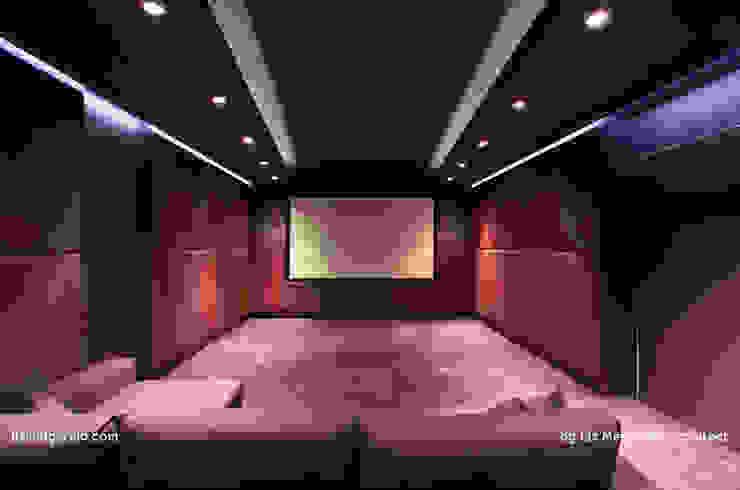 Projekty,  Pokój multimedialny zaprojektowane przez Lis Melgarejo Arquitectura, Nowoczesny