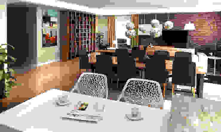 3D Görselleştirme ve Sunum Modern Oturma Odası Cephe Çizimi Modern