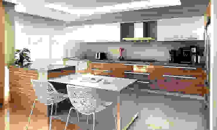 3D Görselleştirme ve Sunum Modern Mutfak Cephe Çizimi Modern