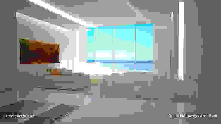 Residencia Luxury Salones de estilo mediterráneo de Lis Melgarejo Arquitectura Mediterráneo