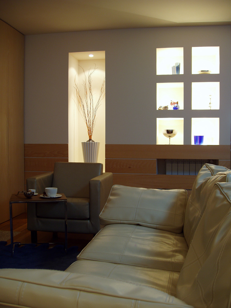 Sala de Estar Salas de estar modernas por Inexistencia Lda Moderno