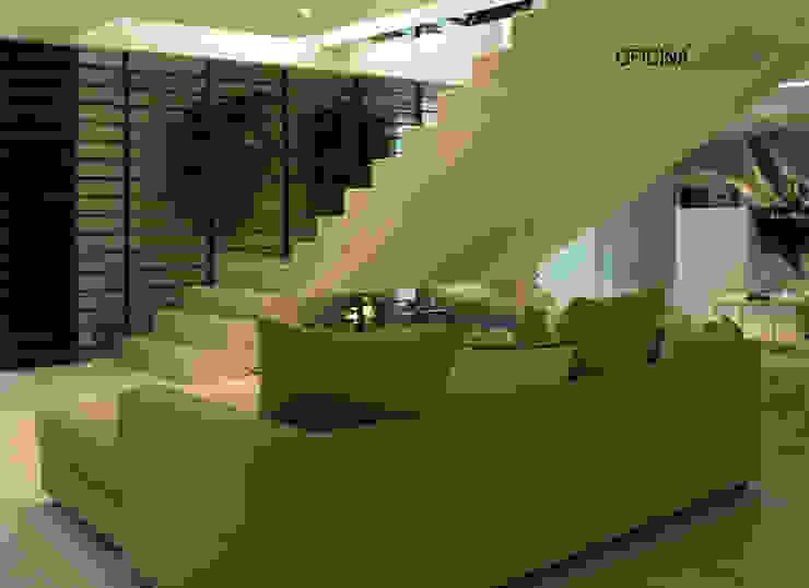 Minimalist corridor, hallway & stairs by Oficina Design Minimalist