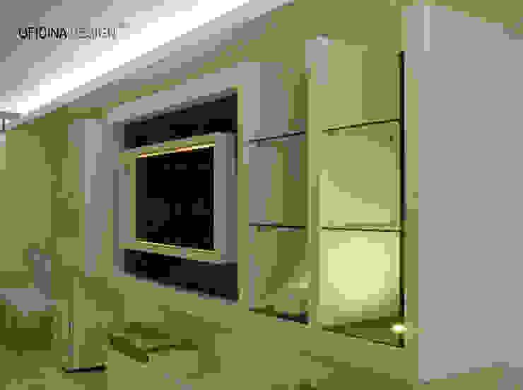 Minimalist dining room by Oficina Design Minimalist
