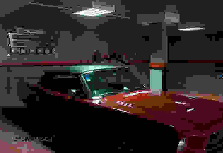 Minimalist garage/shed by Oficina Design Minimalist