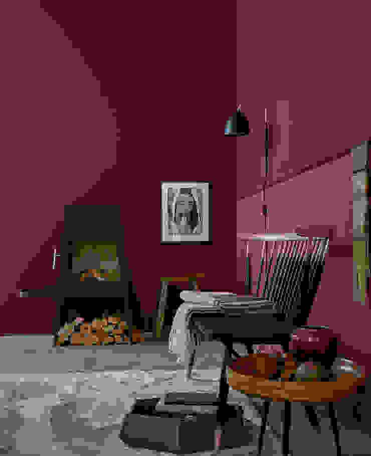 SCHÖNER WOHNEN-FARBE Modern walls & floors Red