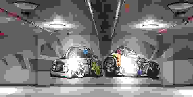 Nowoczesny garaż od Pimodek Mimari Tasarım - Uygulama Nowoczesny