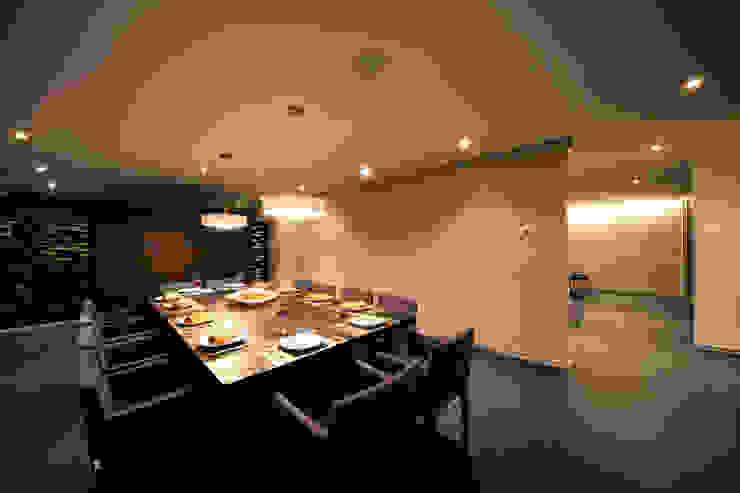 Projekty,  Jadalnia zaprojektowane przez grupoarquitectura, Minimalistyczny